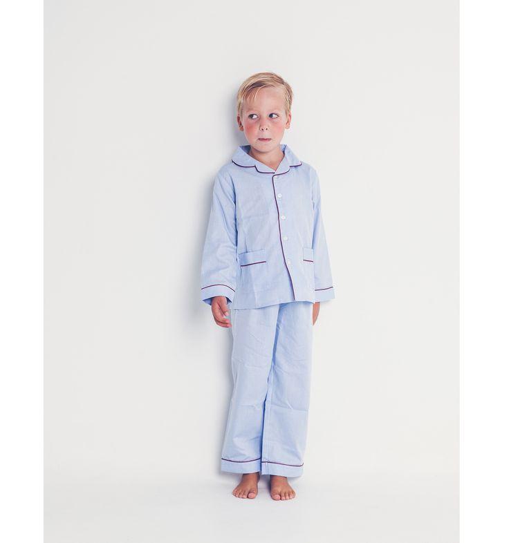 Pijama niño oxford rayas