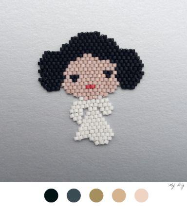 Princesse Leia En Perles