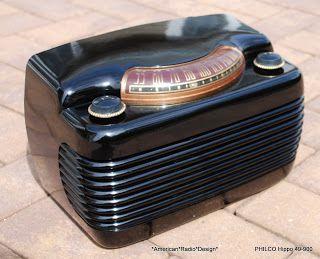 *American*Radio*Design* - Greg Mercurio - Deco-Mid Century, Retro Styled Vintage Tube Radios   : PHILCO 49-900 BLACK HIPPO (1949)     (3448)
