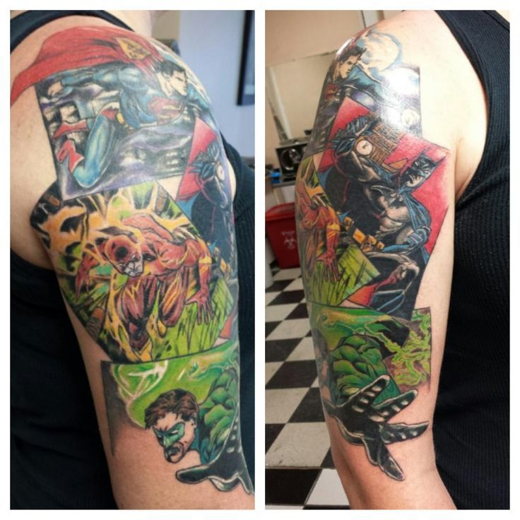 Comic Performer Design Ideas: 17 Best Images About Comic Book Tattoos For Men On
