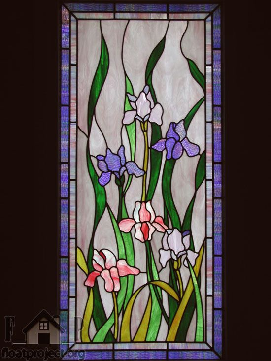 46 Best Images About Stained Glass Irises On Pinterest