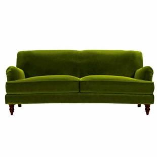 Snowdrop sofa in Olive cotton velvet - i will wish for this couch next time I see a shooting star!