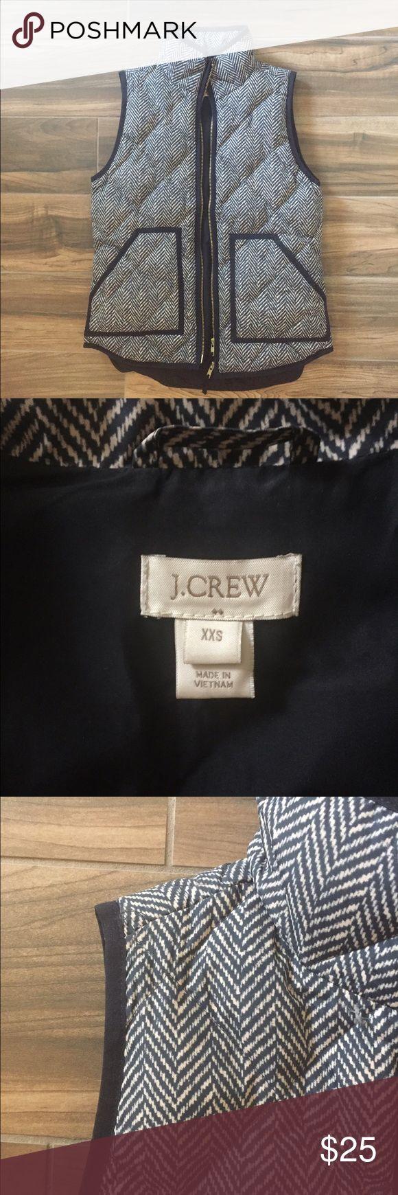 J Crew Factory Puffer Vest J Crew Factory Puffer Vest in herringbone pattern. Worn once. J. Crew Factory Jackets & Coats Vests