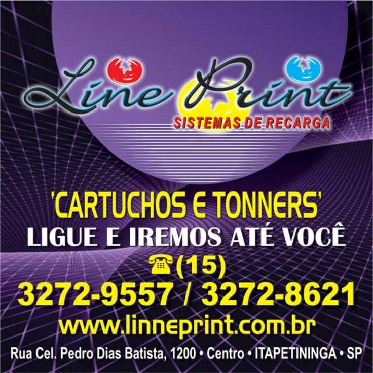 JORNAL AÇÃO POLICIAL ITAPETININGA E REGIÃO ONLINE: Line Prínt SISTEMA DE RECARGA DE CARTUCHOS E TONNERS Rua Coronel Pedro Dias Batista, 1200 Centro - Itapetininga - SP Site: www.lineprint.com.br Tel.: (15) 3272-9557 / (15) 3272-8621