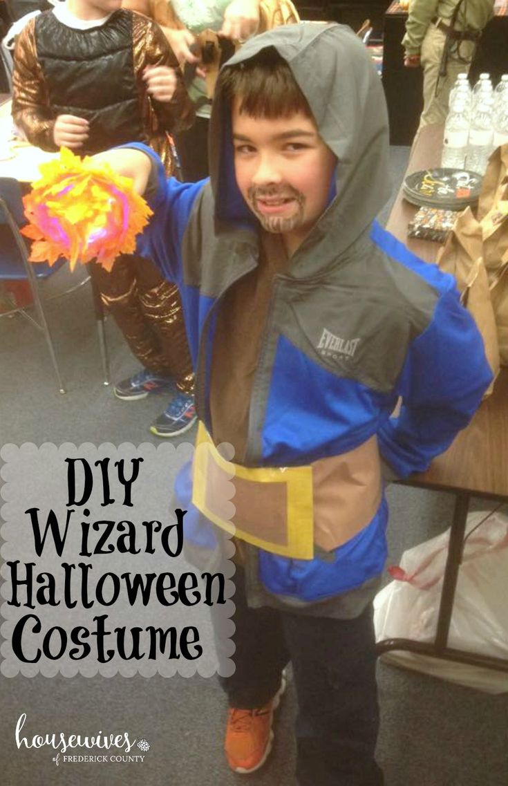 DIY Wizard Halloween Costume. This is so easy to make and requires very few materials. My son was the only Clash of Clans Wizard in school and the neighborhood.