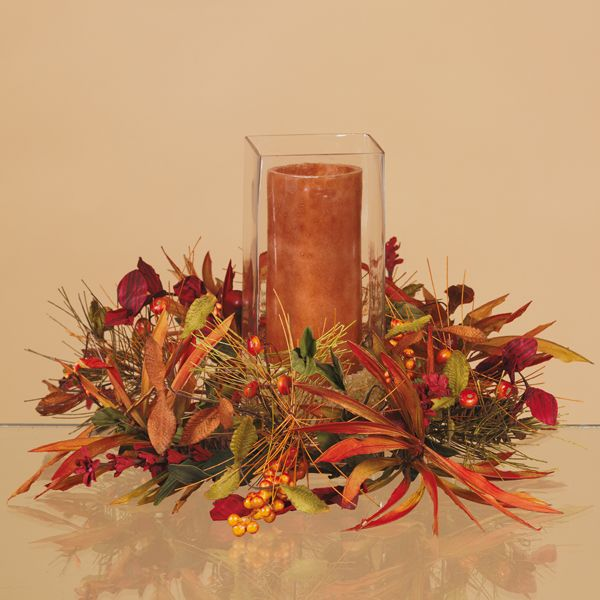 Fall candle centerpieces pictures to pin on pinterest for Dining room centerpiece ideas candles