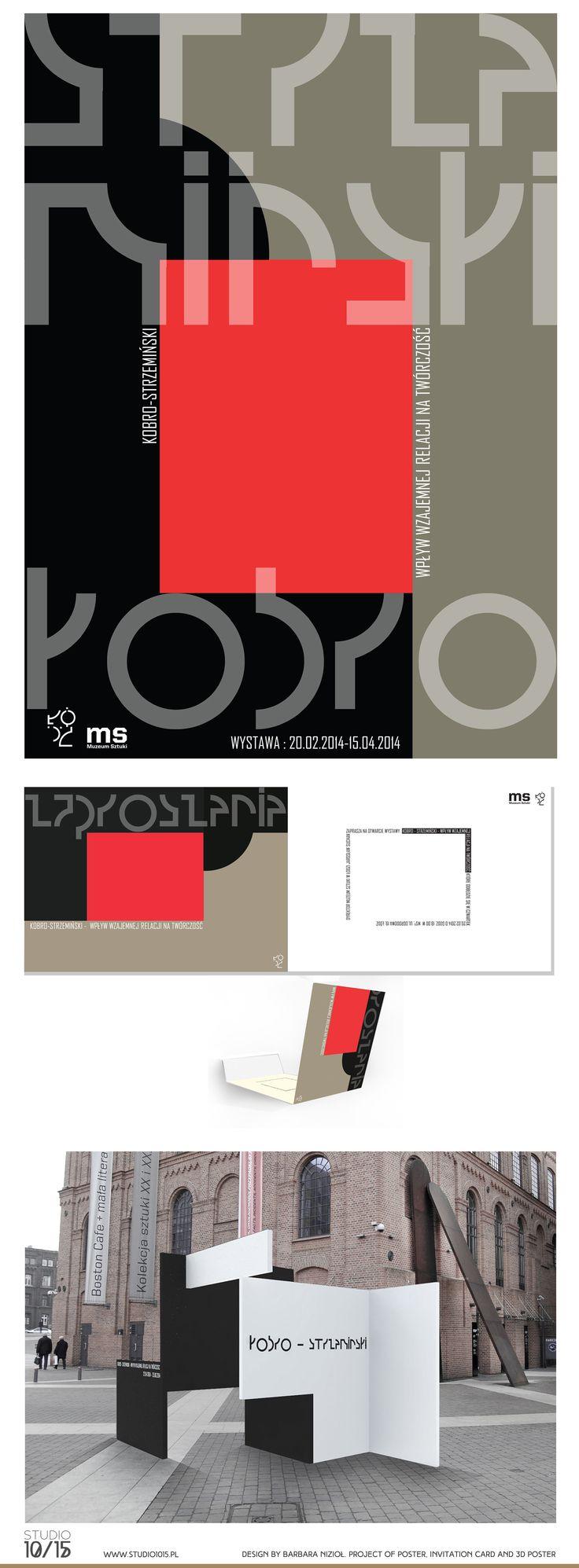 Design by Barbara Nizioł. Studio 10/15. Poster for the exhibition about polish avant-garde artists Strzemiński and Kobro. Student work.