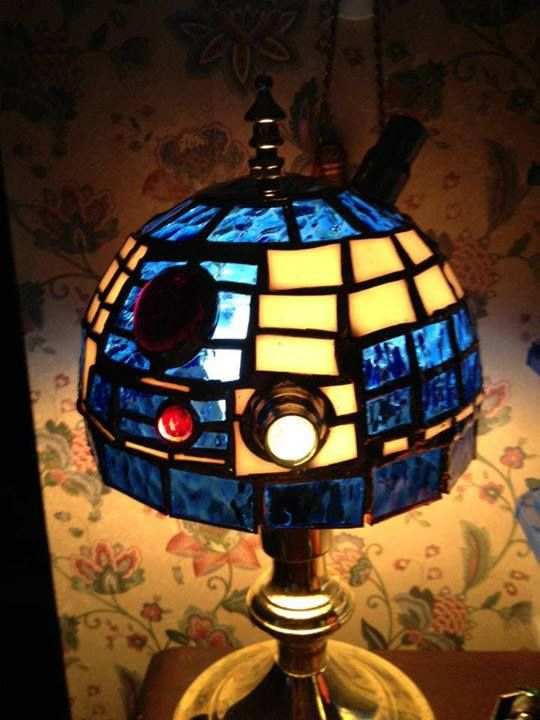 R2D2 lamp by Joseph Olson - 36 Best Geeky Glass Images On Pinterest Stained Glass, Fused