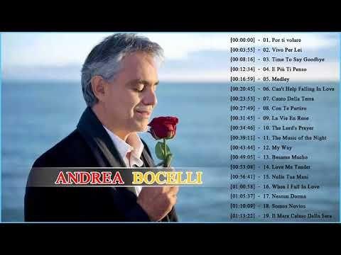 284) Andrea Bocelli Greatest Hits 2018 Best Andrea Bocelli