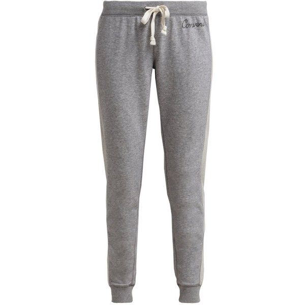 Converse Tracksuit bottoms vintage grey heather ($35) ❤ liked on Polyvore