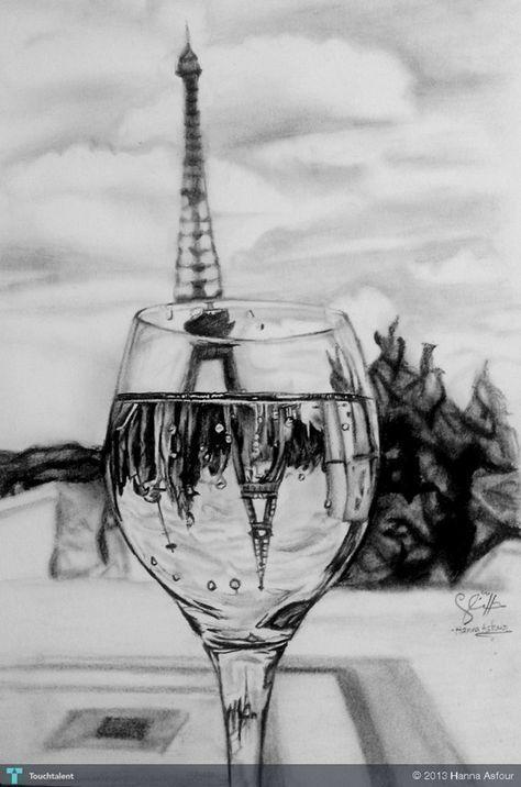 45 Einfache und schöne Eiffelturmzeichnung und -skizzen