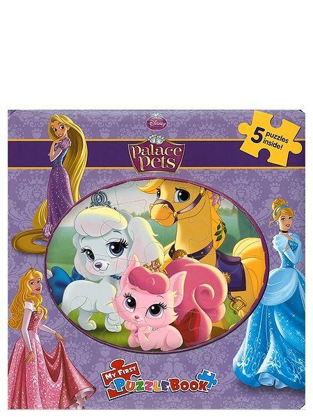 Palatsin pallerot -palapelikirja  sisältää 5 palapeliä, joita koristavat prinsessojen suloiset lemmikit. Jokaisen palapelin alla on kuva, jonka mukaan palat on helppo sijoittaa paikoilleen. Kussakin palapelissä on 12 palaa. 3+