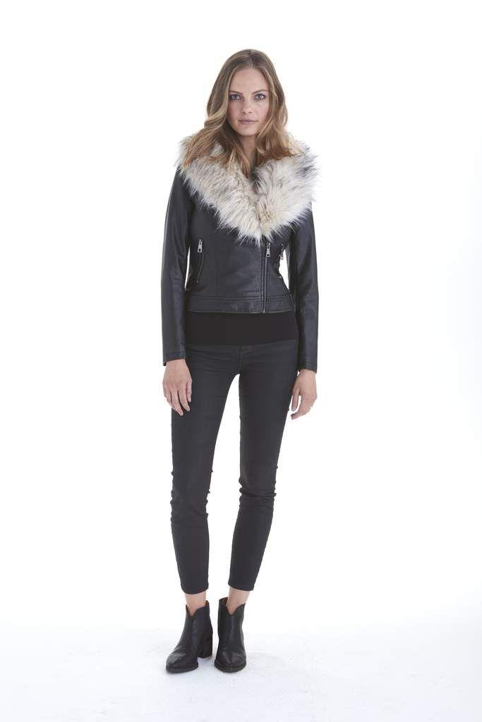 Shea Faux Fur Collar Jacket | Love Token US