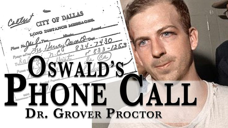 Lee Harvey Oswald's Phone Call Before His Assassination ... Well worth listening to.