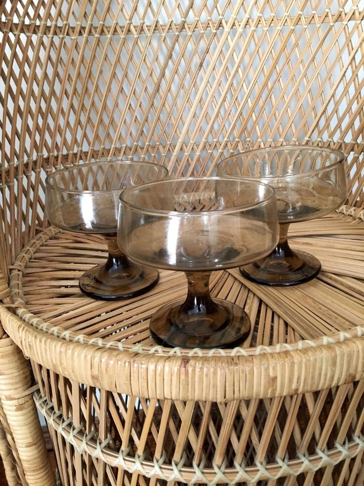 set of 3 danish modern cocktail glasses -  midcentury barware by kitschandcosmos on Etsy