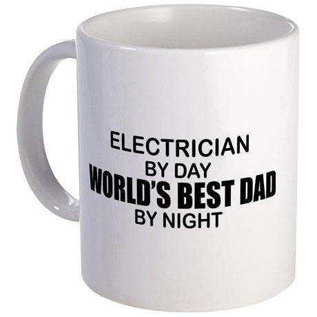 World's Best Dad - Electrician Mug