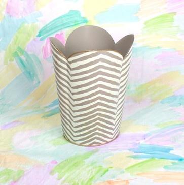 Grey Zebra Wastebasket - contemporary - waste baskets - Furbish Studio