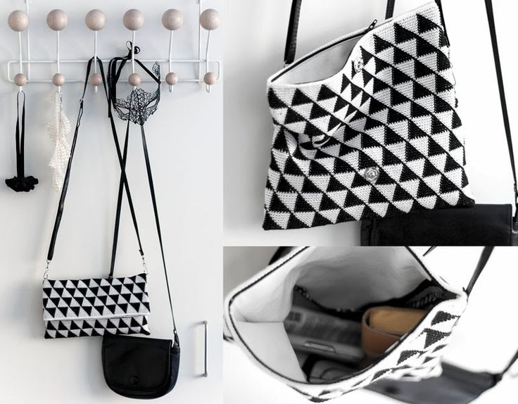 Black and white crochet clutch by Molla Mills - super cute wanna do!