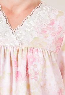 Pink Satin Nightgowns - Women's Pink Nightgowns by Oscar de la Renta   Serene Comfort