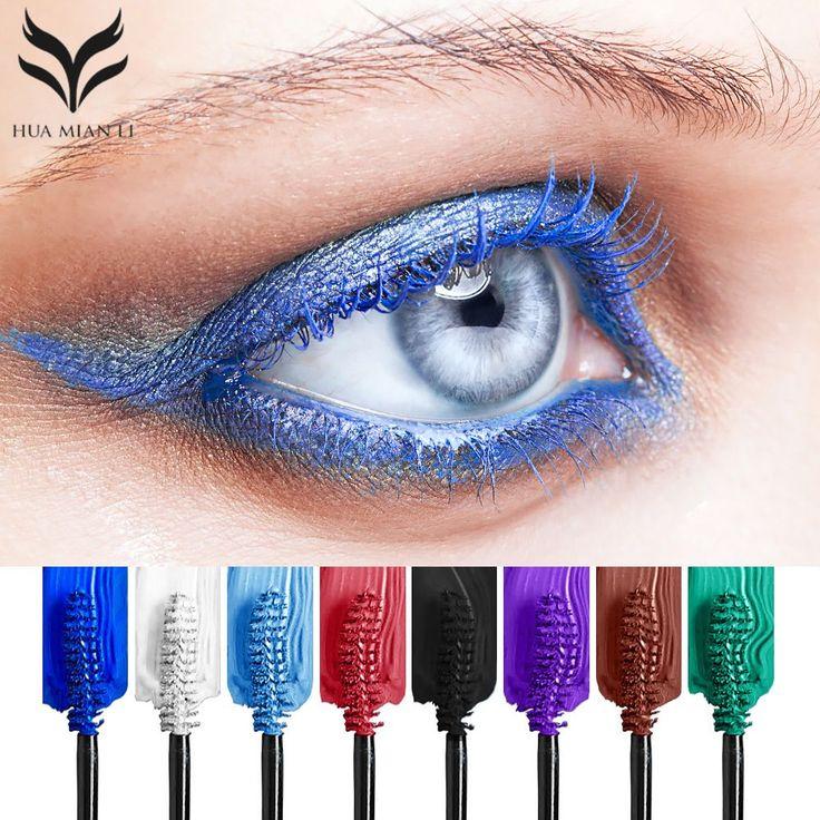 HUAMIANLI Eight-color 8g Colorful Mascara Warped Eyelash Waterproof Cosmetics Lengthening Mascara High-grade Aluminum Tube