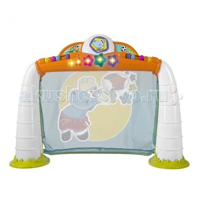 """Игровой центр Chicco Goal League  Увлекательна спортивна игра линии Fit&Fun, в котору ребенок может играть сам или с друзьми. Как только малыш забивает гол в ворота, активизирутс забавные световые и звуковые ффекты.  Есть возможность выбрать один из трех режимов игры (пенальти, золотой мч или соревнование).  Режим """"Пенальти"""": каждый раз, когда ребенок забивает гол, звучит мелоди, и на перекладине загораетс звездочка. После 5 забитых голов звучит весела музыка, предлага малышу поиграть снова…"""