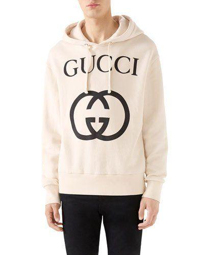 b9714deca9b0 Men's GG Logo Hoodie Sweatshirt in 2019 | Products | Gucci hoodie ...