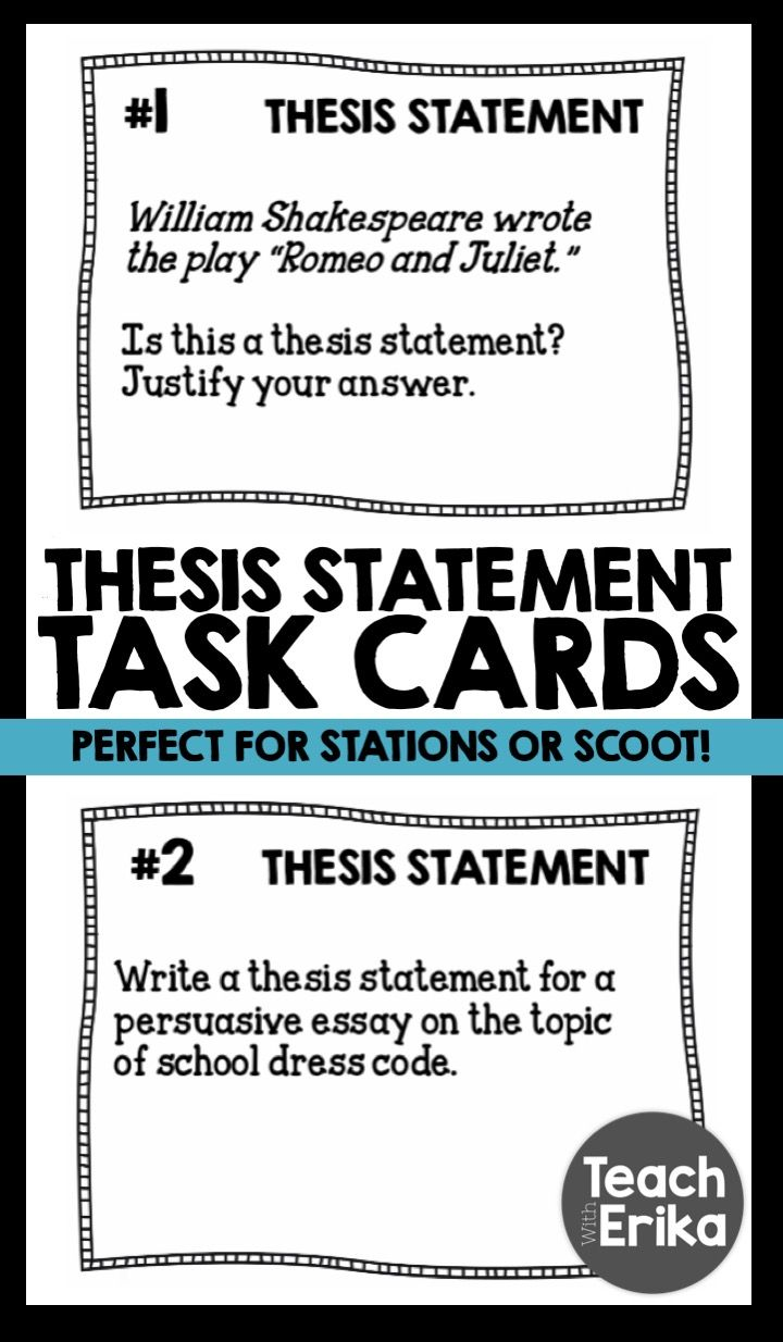 topics for thesis statement practice