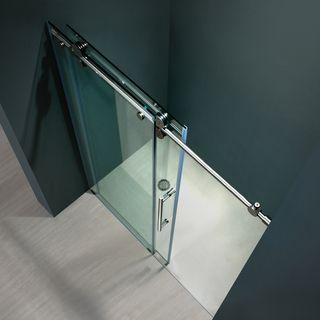 Vigo 60-inch Clear Glass Frameless Sliding Shower Door   Overstock.com Shopping - The Best Deals on Shower Doors