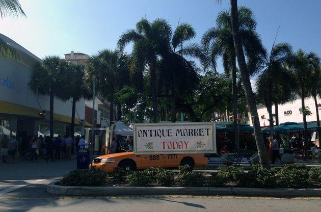 Блошиый рынок Майами, античный рынок, винтажный рынок Майами Бич