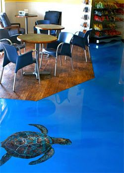 Epoxy Blue Floor And Ocean On Pinterest