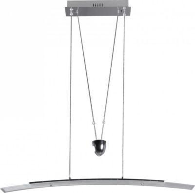 Wohnling WOHNLING Pendelleuchte LED Lampe 4 Flammig Deckenleuchte Design Hngelampe Chrom Wohnzimmerlampe Modern Hngeleuchte