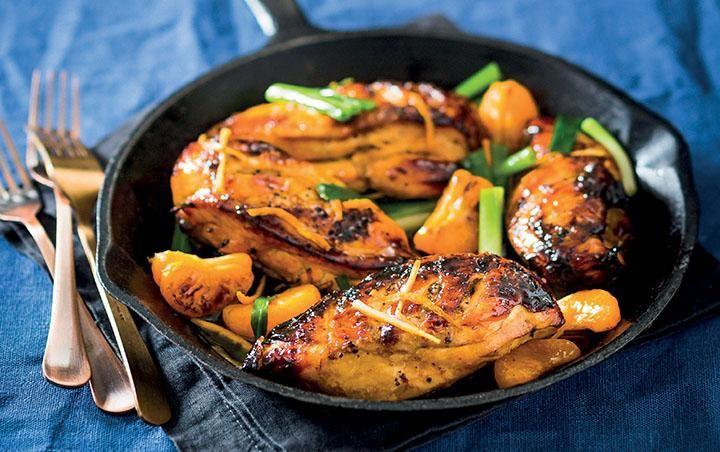 Naartjie and ginger chicken