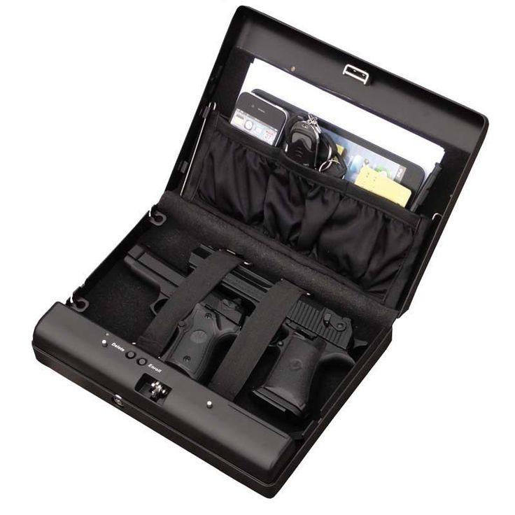 ms500 biometric gun safe fingerprint pistol safe box gun vault jewelry safe box