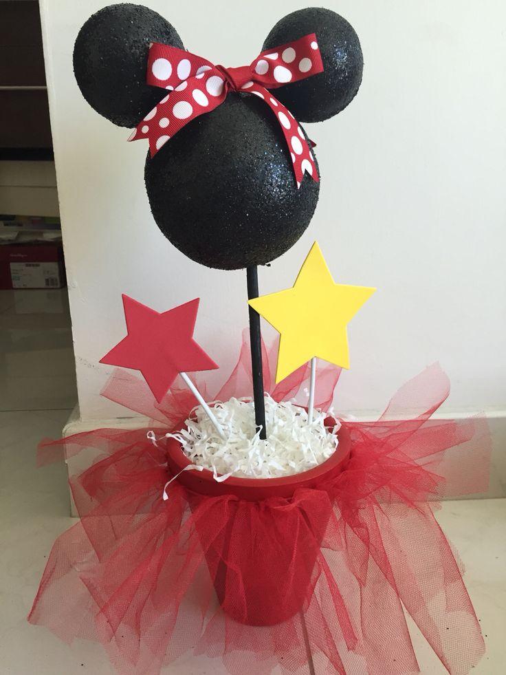 Minnie mouse centerpiece, party, Mimi mouse centro de mesa, fiesta, cumpleaños, birthday