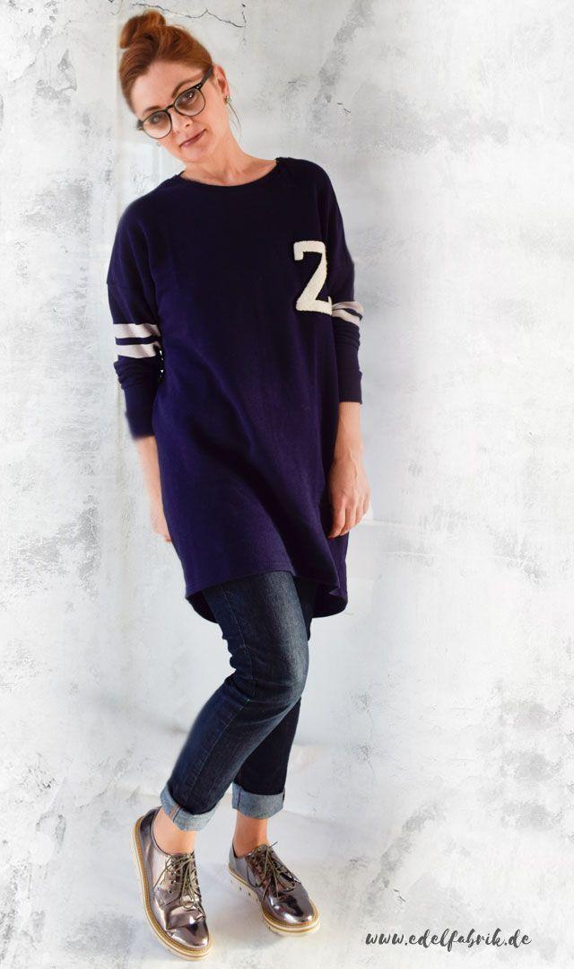 Outfit, die Edelfabrik, silberne Schuhe im Metallic Trend, sporty