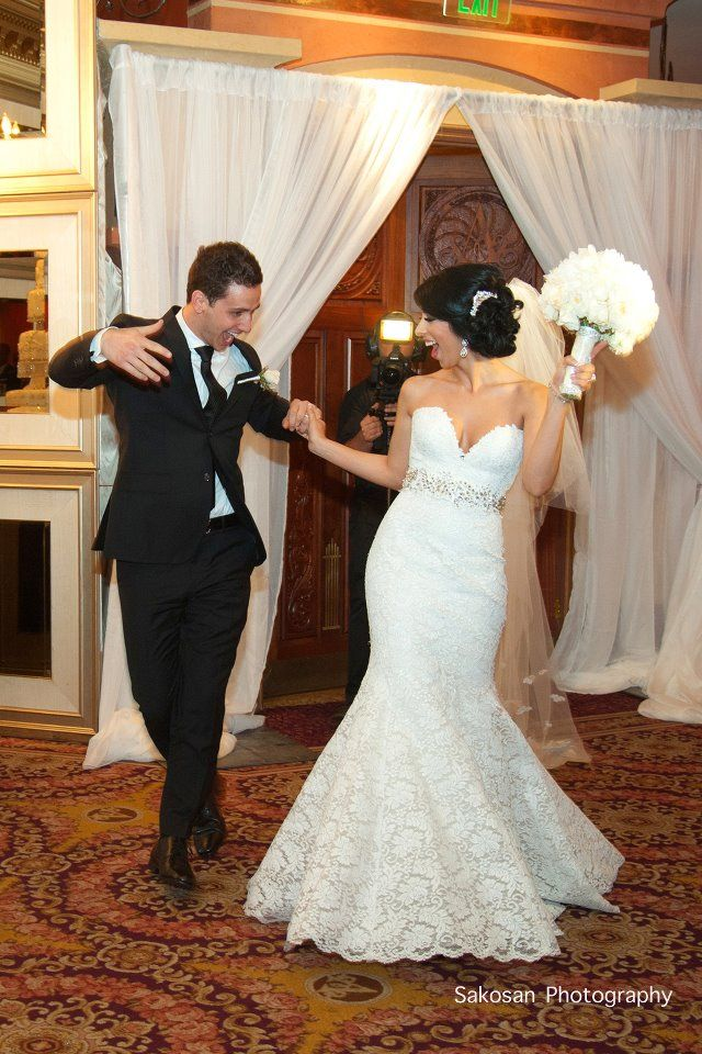 Crystals fitted all lace gown accented with beaded belt for Fitted lace wedding dress