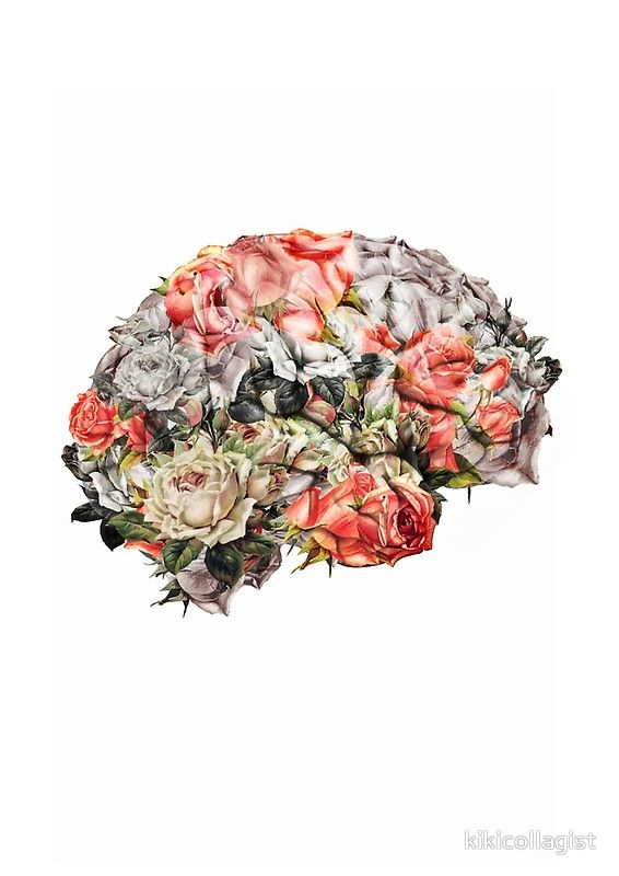 Flower Brain | Poster (With images) | Brain art, Anatomy art ...