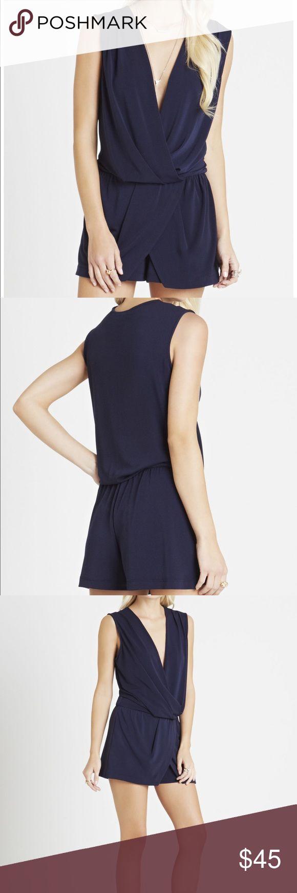 "NWT BCBGENERATION V Neck Skort Romper XS V-neckline. Sleeveless. Skort bottom. Shirred waistline. Faux wrap silhouette. Short-length inseam, 3"". Self: Polyester, Spandex crepe. Machine Wash. Imported. BCBGeneration Shorts Skorts"