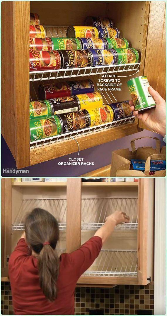 Diy Closet Rack Can Food Organizer Instruction Diy Space Saving