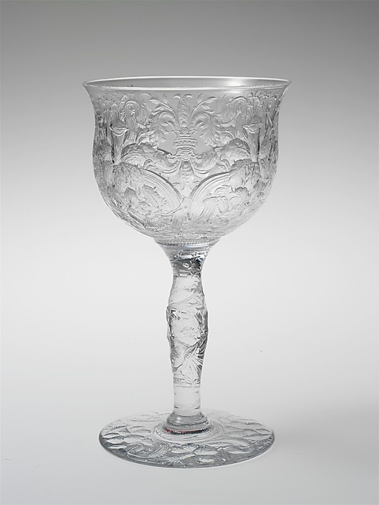 Goblet, Libbey Glass Co.c1904 American. Blown, cut, and engraved glass.