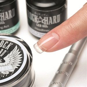 Artistic Nail Design's Rock Hard Gel Clear Extensions - Nails Magazine