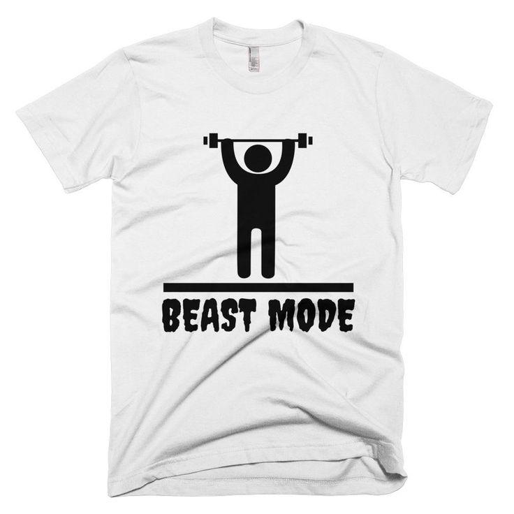 Men Graphic Print Beast Mode Short Sleeve T-Shirt - 6 Colors