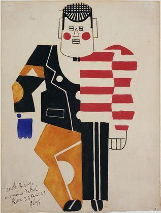 Fernand Léger. Costume design for the ballet Skating Rink. (1922), MoMA