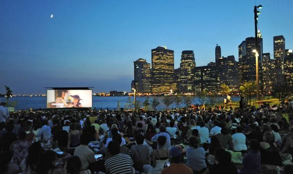 Okay, okay. Brooklyn ain't no paradise, but this location on the East River overlooking the Manhattan skyline is a pretty awesome backdrop for a film screening. | Photo Credit: Brooklyn Bridge Park