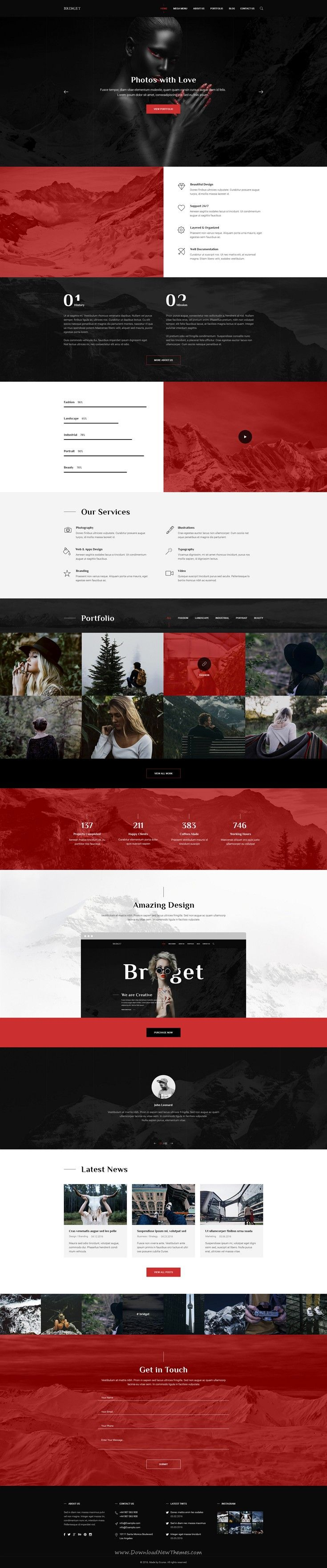 Last is modern and clean PSD #template for multipurpose #website includes 59 well-organized #PSD files. Download Now!