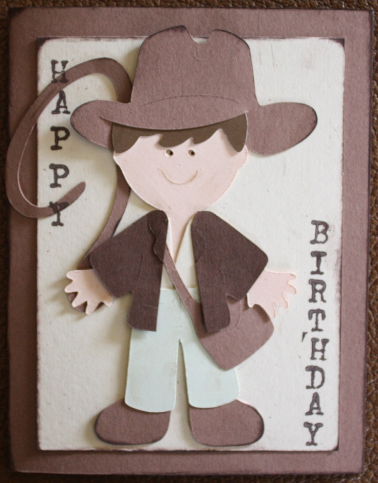 indianjones birthday party invitations printable%0A Card  Indiana Jones Birthday Card