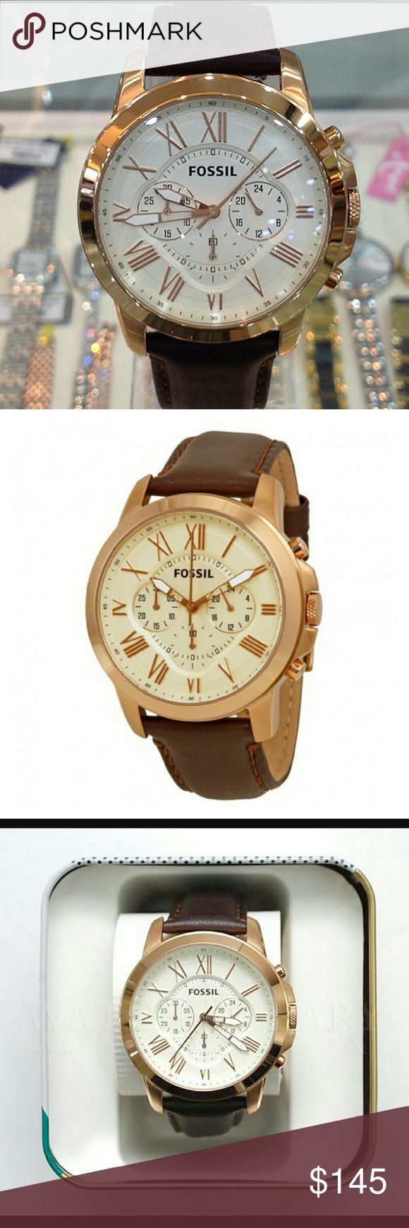 FOSSIL Grant Chronograph Dial Brown Leather watch FOSSIL Grant Chronograph Dial Brown Leather Men's Watch.  Firm price firm price firm price  $ 145.00 . AUTHENTIC WATCH  . AUTHENTIC BOX  . AUTHENTIC MANUAL   SHIPPING  PLEASE ALLOW FEW BUSINESS DAYS FOR ME TO SHIPPED IT OFF.I HAVE TO GET IT FROM MY WAREHOUSE.    THANK YOU FOR YOUR UNDERSTANDING. Fossil  Accessories Watches