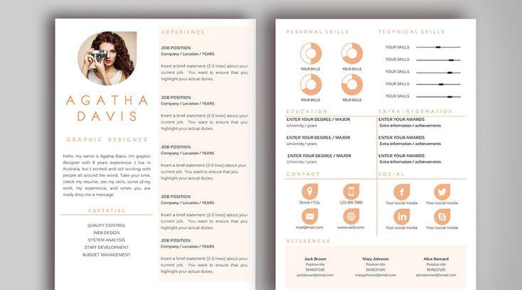 Agatha Davis Sample Resume Template for Graphic Designer
