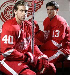 My 2 favorite boys!!! Henrik Zetterberg and Pavel Datsyuk = everlasting LOVE ❤ #40 & #13 ❤
