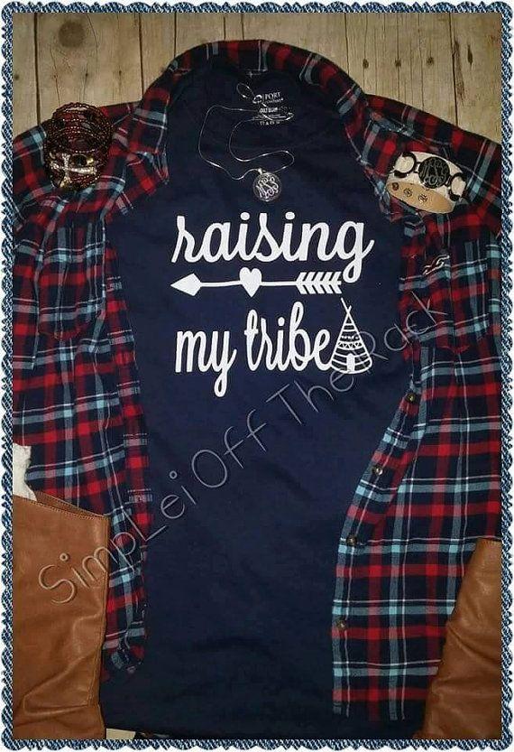 Raising my tribe tshirts graphic tees mom by SimpLeiOffTheRack